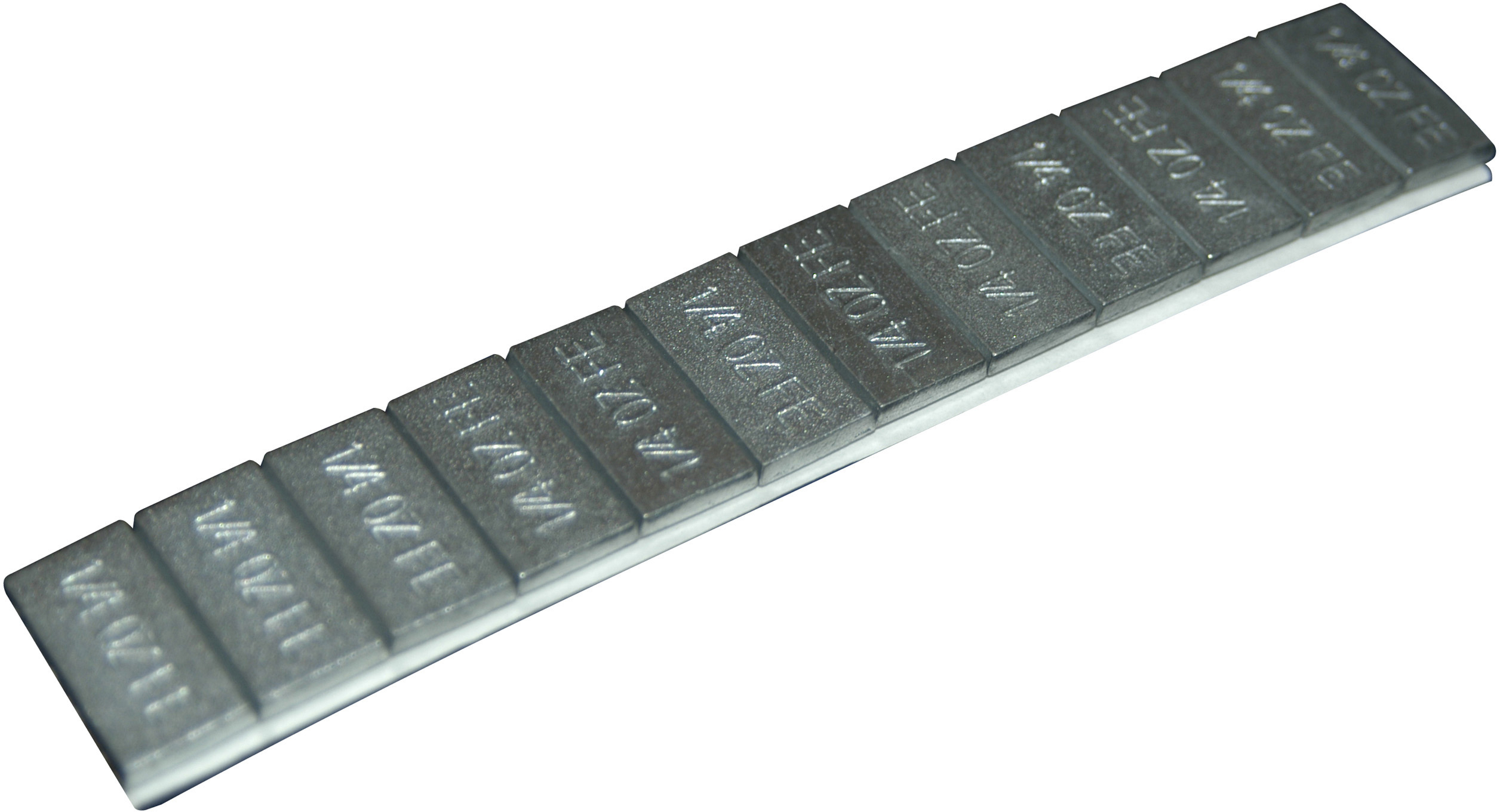 Zinc Coated Adhesive Wheel weight .25oz 48 strip