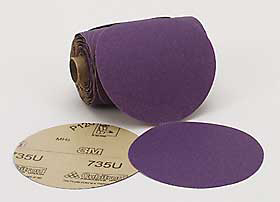 Paper Disc Roll,5 In D,P120 Grit,PK400