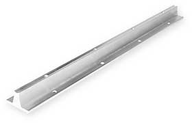 Support Rail,Aluminum,0.625 In D,24 In