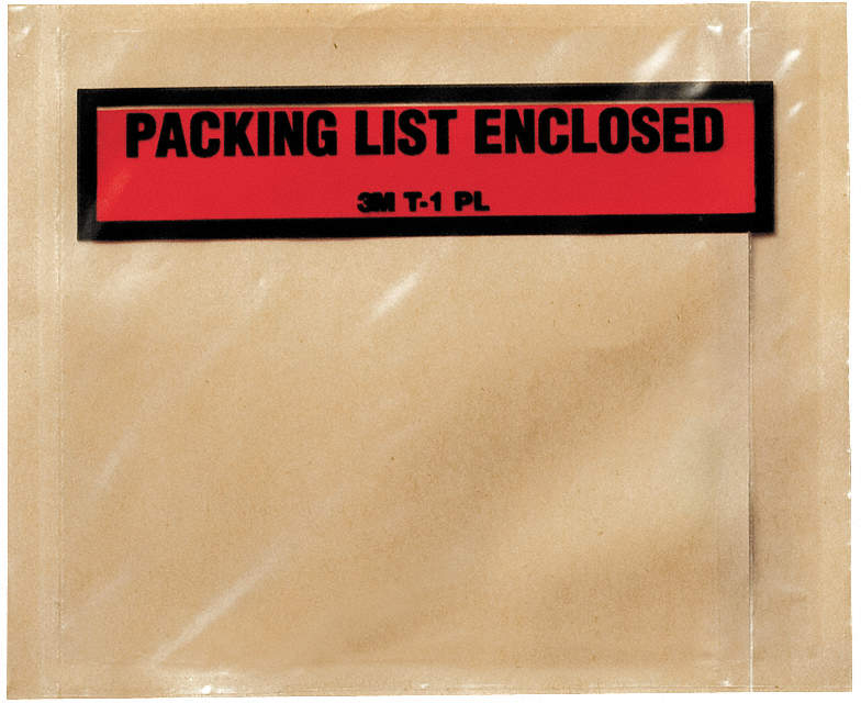 Packing List Envelope,Clear,