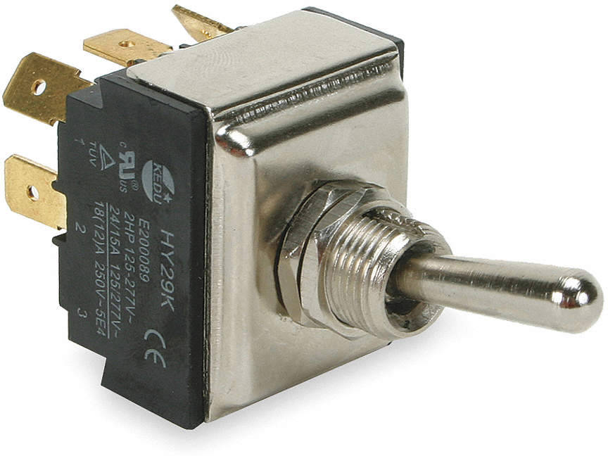 Toggle Switch,3PST,15A @ 277V,