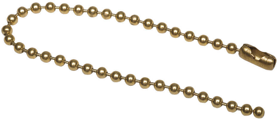 Beaded Chain,Brs,Brs Pld,4-1/2