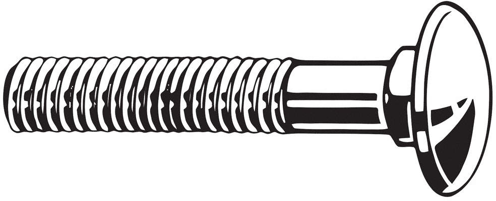 Carriage Bolt,3/8-16,3 In.,PK25