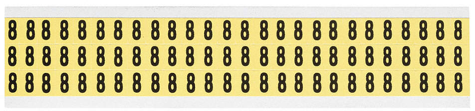 Number Label,8,1/2in.Hx11/32in.