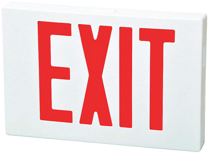Exit Sign,LED,8-1/4 In. H x 1-