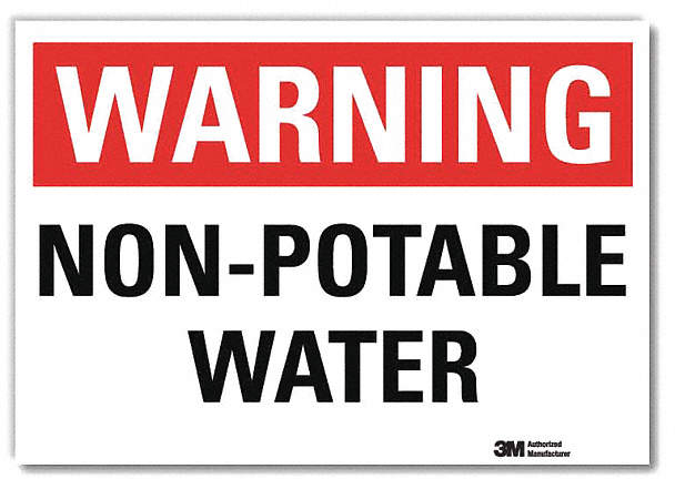 Warning Sign,Non Potable Water,