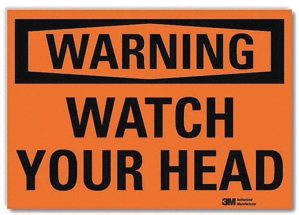 Warning Sign,Watch Your Head,5
