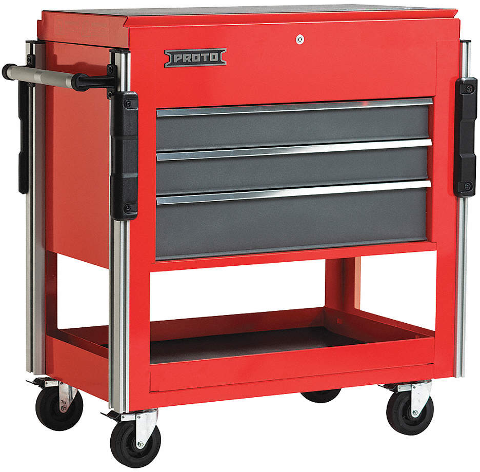 Utility Cart,3 Drawers,1100 Lb.