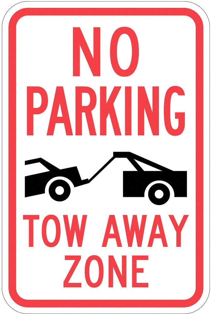 Sign,No Parking Tow Away Zone,