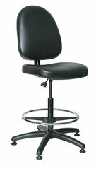 Task Chair,Vinyl,Black,24 To