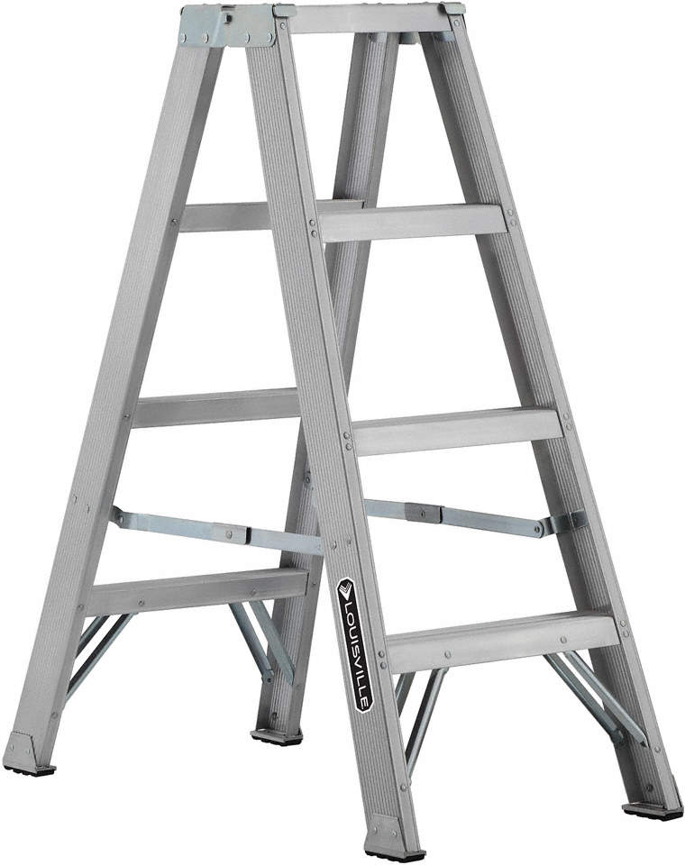 Twin Stepladder,Aluminum,Ia,4