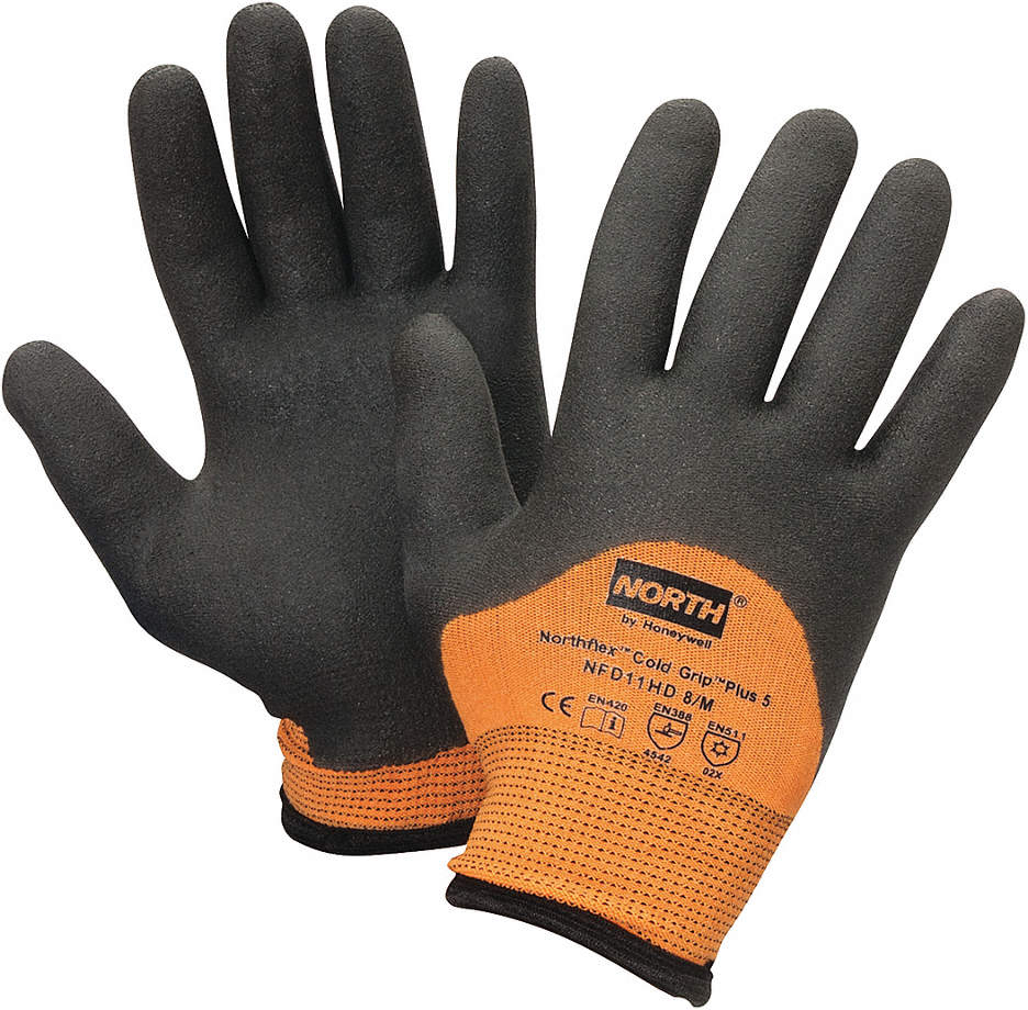 Cut Resistant Gloves,Bl/Or,L