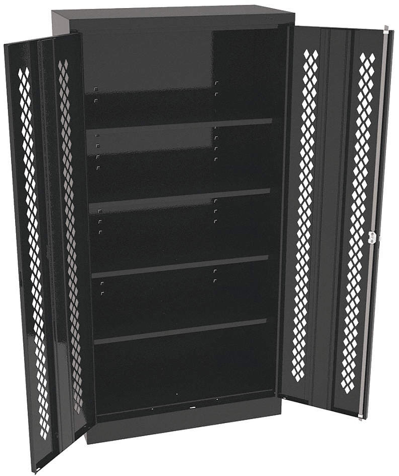 Storage Cab,Black,36in.W,