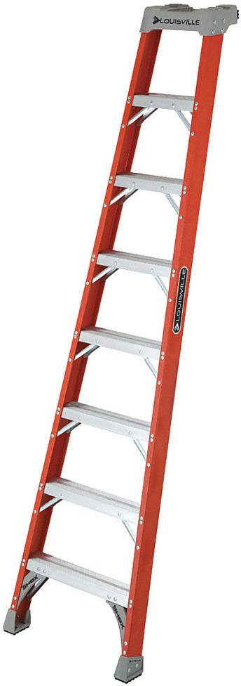 Straight Ladder,8 Ft.H,300 Lb.
