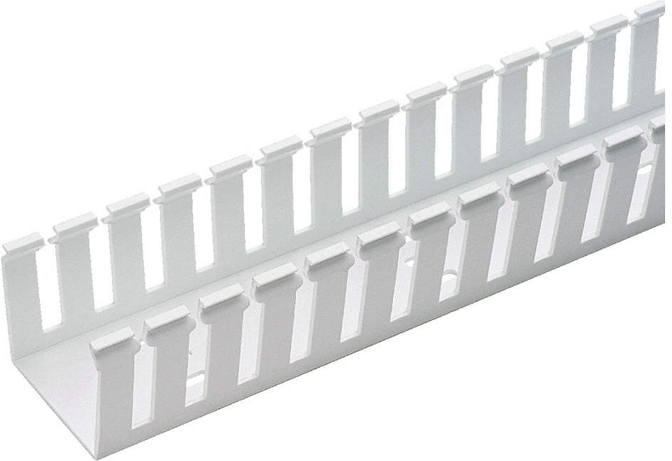 Wire Duct,Wide Slot,White,3.25