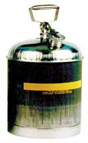 Safety Can,Stainless Steel,2.5 Gallon