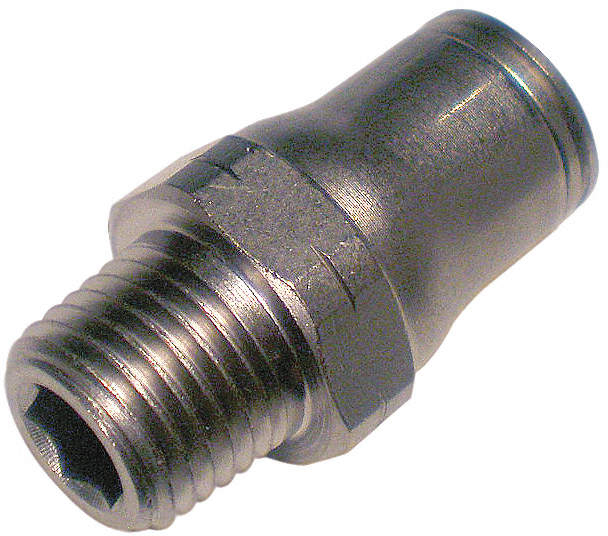 Male Connector,Tube x Bspt,8mm