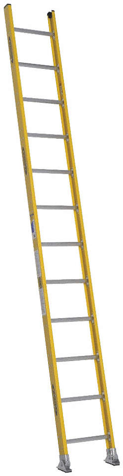 Straight Ladder,H 12 Ft.,