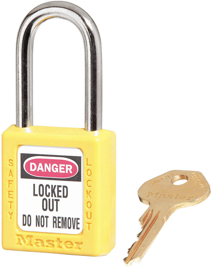Lockout Padlock,Yellow,Keyed