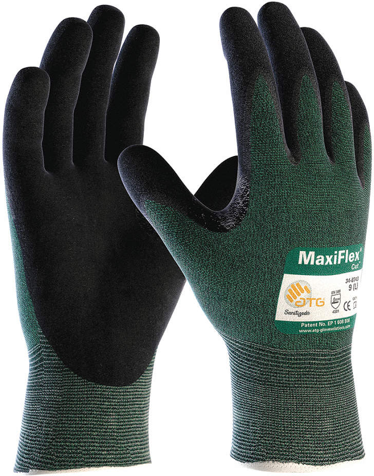 Cut Resistant Gloves,Green,XL
