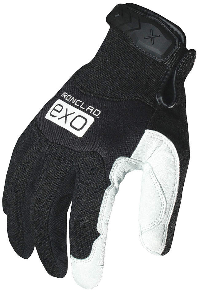 Mechanics Glove,L,Black/White,