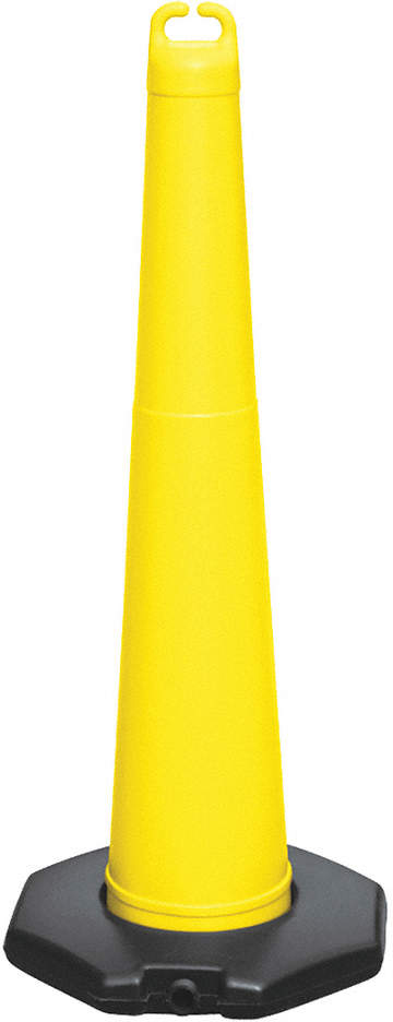 Traffic Cone,42in H,Yellow,