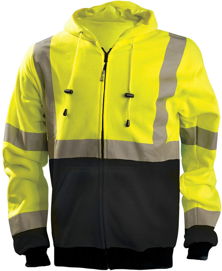 Sweatshirt,Hi-Vis Yellow,XL