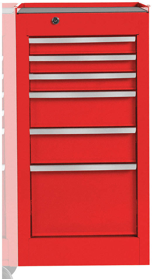 Side Cabinet,Red,15 In. W,6