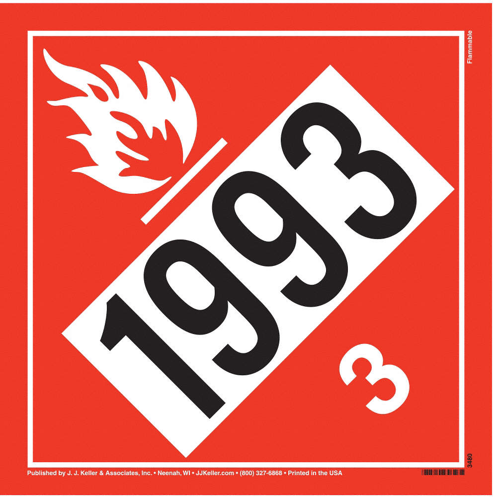Flammable Liquid Placard,Vinyl
