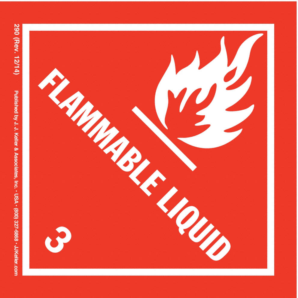 Flammable Liquid Label,4 In. H,