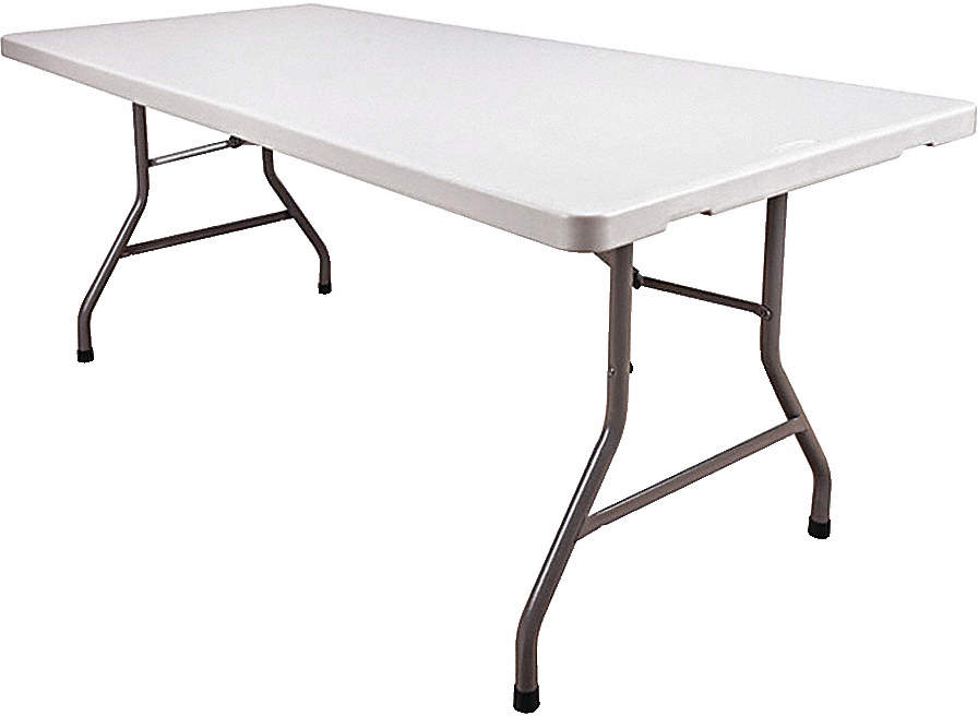 Folding Table,White/Gray,