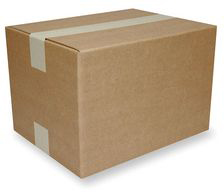 Shipping Carton,Kraft,20 In. L,
