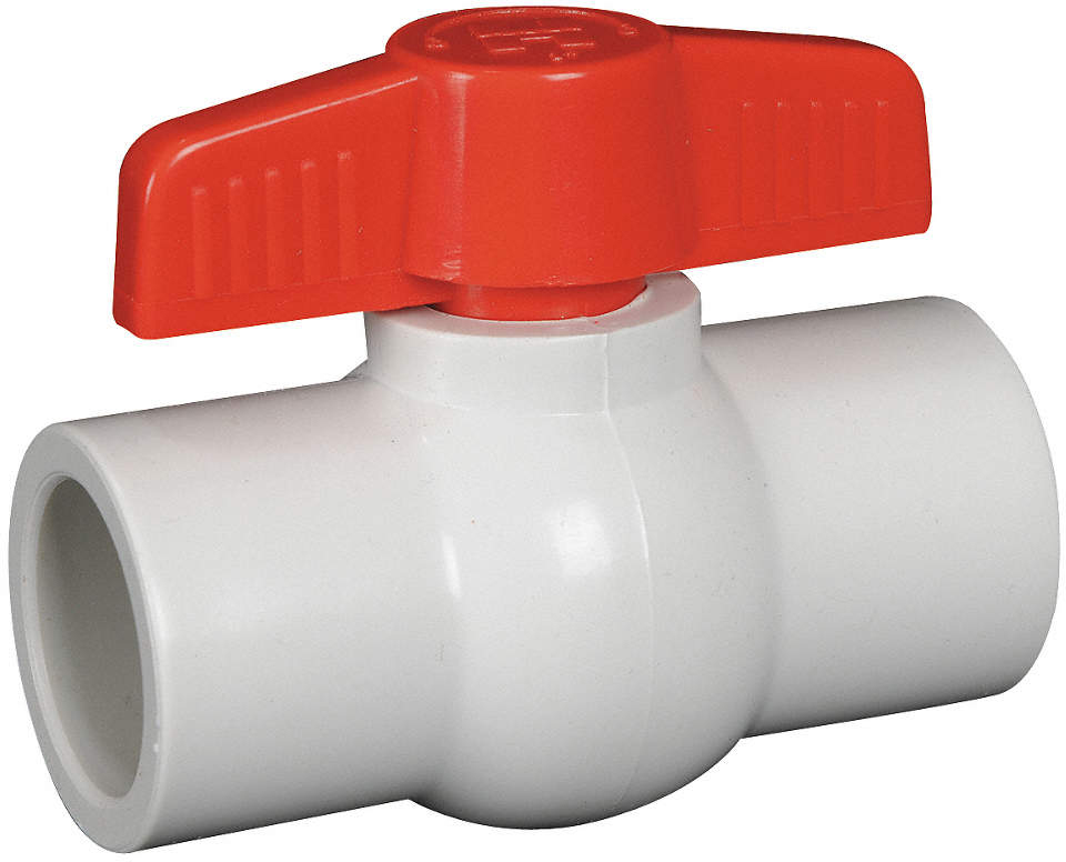 1/2 White PVC Compact, Threaded