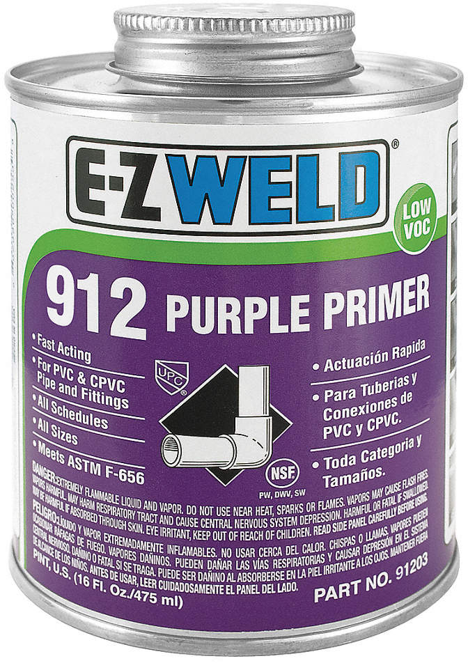Primer,32 Oz,Purple,PVC,CPVC