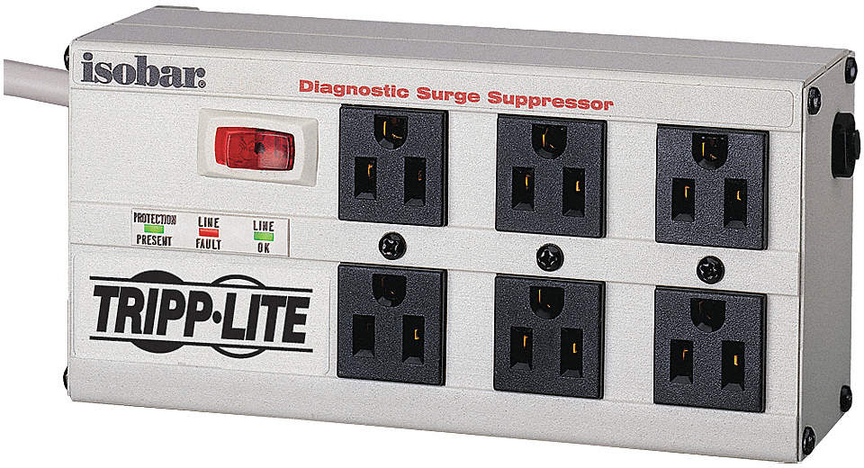 Surge Protector Strip,6 Outlet,