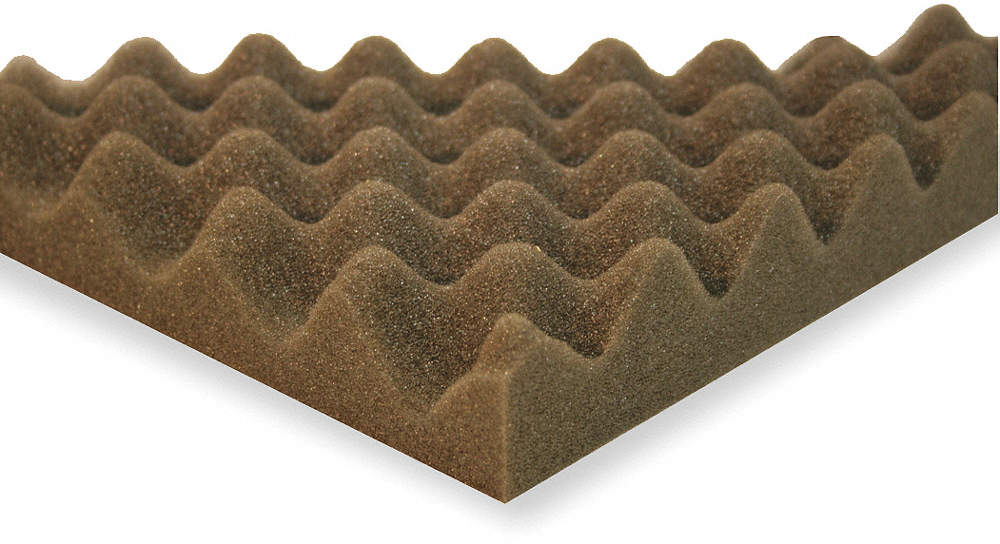 Acoustic Foam,Convoluted, Gray,