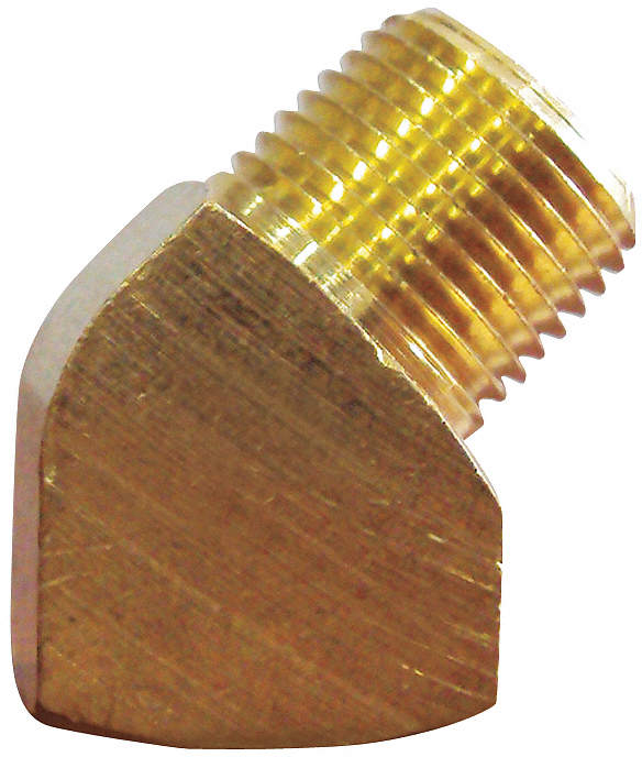 Street Elbow,Brass,45,1/2 In,