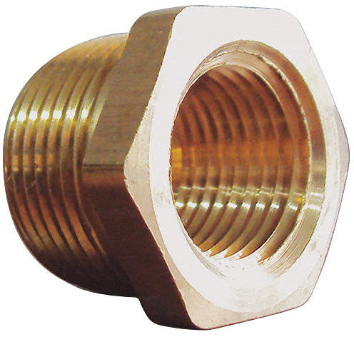 Pipe Bushing,Brass,3/8 x 1/8 In