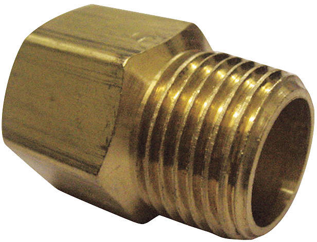 Adapter F x M,Brass,1/8 In