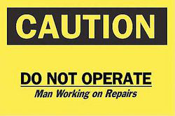 Caution Sign,7 x 10In,Bk/Yel,