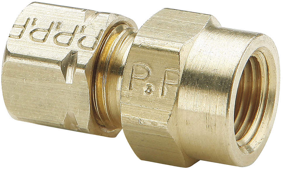 Connector,Brass,Compxf,3/8In,