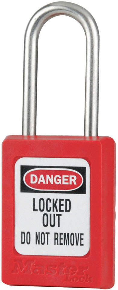 Lockout Padlock,Kd,Red,3/16 In.