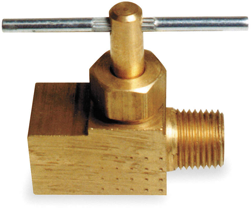 Needle Valve,Straight,Brass,1/