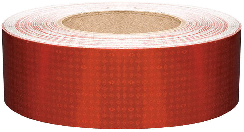 Reflective Tape,W 2 In,Red