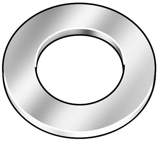 Flat Washer,USS,Fits 9/16 In,