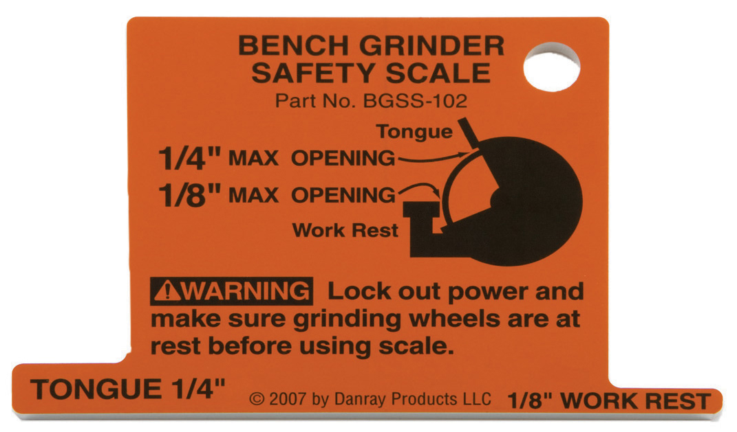 72740 Bench Grinder Safety Scale