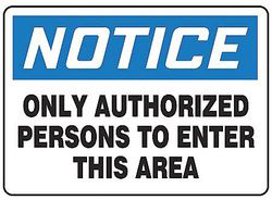 Notice Sign,10 x 14In,Bl And