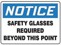 Notice Sign,7 x 10In,Bl And