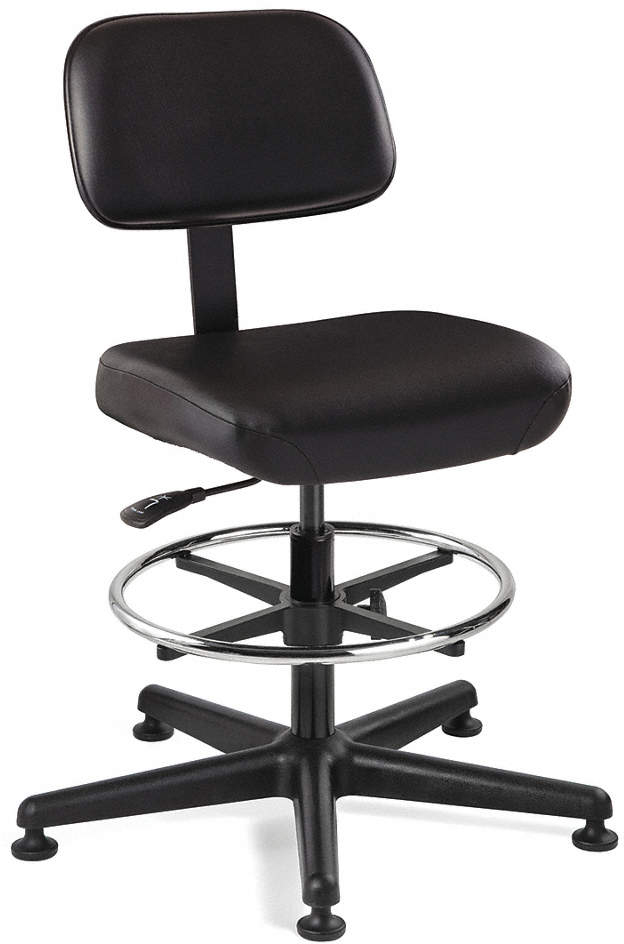 Task Chair,Vinyl,Black,23 To