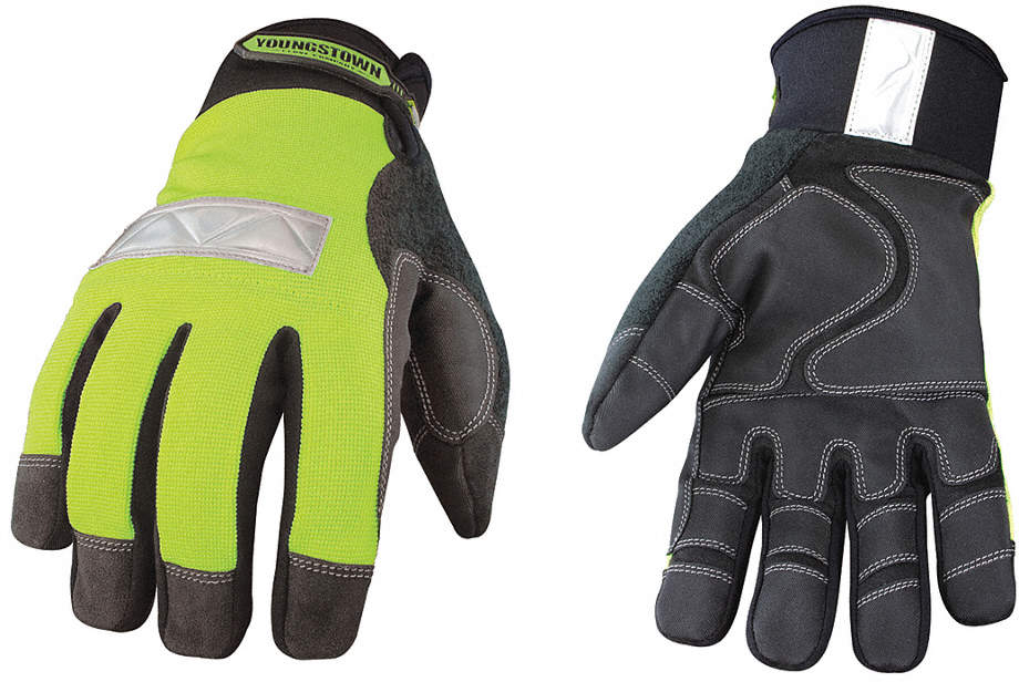 Cold Protection Gloves,L,Hivis